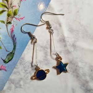 SATURN STAR | Earrings Stainless Steel Cute Planet